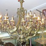 AN ANTIQUE CHANDELLIER CRATED  AND   SHIPPED TO COLORADO