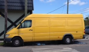 Our yellow shuttle takes your items to your clients' door